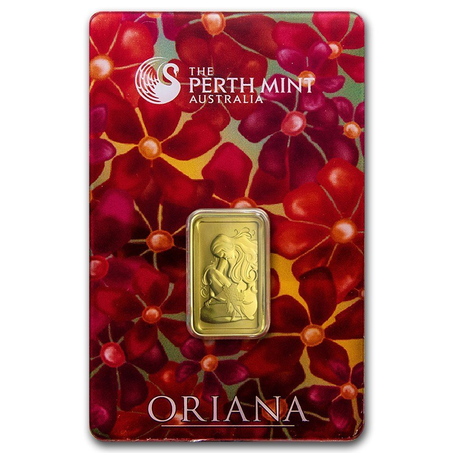 5 gram Gold Bar – Perth Mint Oriana Design (In Assay)
