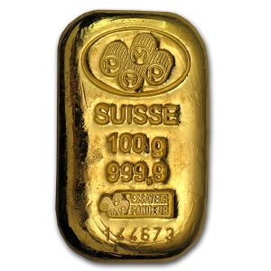 100 gram gold bar-Pamp susisse