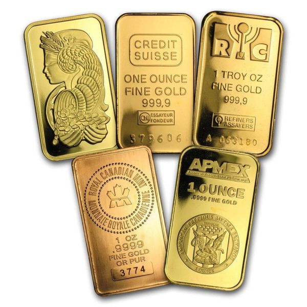 1 OZ gold Bars font side