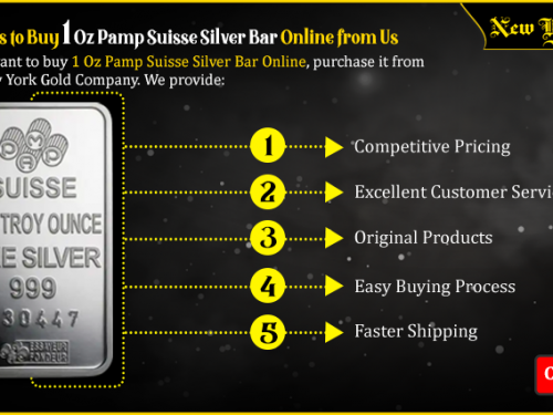 5 Reasons to Buy 1 Oz Pamp Suisse Silver Bar Online from Us